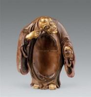 清康熙 竹雕漆金顺治出家像 -  - 瓷器 玉器 书画 杂项 - 2007年秋季拍卖会 -中国收藏网