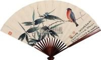 青竹翠鸟图 成扇 设色纸本 - 116070 - 名家精品专场 - 四季拍卖会(一) -中国收藏网