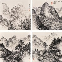 山水 四屏 水墨纸本 - 溥佺 - 中国书画 - 2006秋季拍卖会 -收藏网