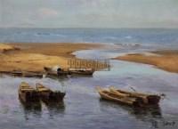 威海近郊三义河口 布面油画 - 张祖英 - 油画 雕塑 唐卡 - 2011春季拍卖会 -中国收藏网