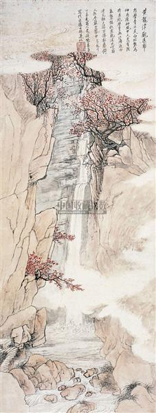 张善孖(1882~1940)黄龙潭观瀑图 -  - 中国书画近现代名家作品专场(二) - 西泠印社2009五周年庆典拍卖会 -收藏网