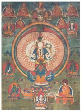千手观音菩萨唐卡 -  - 佛像唐卡 - 2007春季艺术品拍卖会 -收藏网
