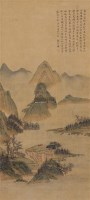 云山抚琴 立轴 设色绢本 - 顾符稹 - 中国古代书画(一) - 2011年春季拍卖会 -收藏网