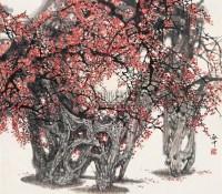 红梅 立轴 - 伍启中 - 中国书画(一)   - 2006年秋季艺术品拍卖会 -收藏网