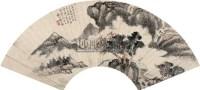 梅雨积荫图 扇面 设色纸本 - 149704 - 名家精品专场 - 四季拍卖会(一) -中国收藏网