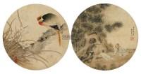 花鸟 人物 镜框 设色纸本 -  - 中国书画专场 - 2011秋季艺术品拍卖会 -收藏网