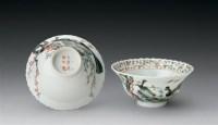 清光绪 粉彩花口折腰碗 (一对) -  - 中国瓷器杂项 - 2006秋季文物艺术品展销会 -收藏网