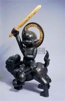 杨茂林 2005年作 摩诃大千世界的骑狮原子小菩萨 - 杨茂林 - 亚洲当代艺术 - 2007春季艺术品拍卖会 -收藏网