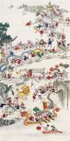 陈大章 癸亥(1983年)作 百子图 立轴 纸本 - 8658 - 中国书画(一) - 2006年第4期嘉德四季拍卖会 -收藏网