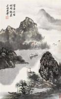 胡振郎 癸亥(1983年)作 富春江畔 立轴 设色纸本 - 胡振郎 - 中国书画(一) - 2006秋季拍卖会 -收藏网