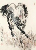 奔马 镜框 设色纸本 - 3946 - 风雅颂·中国书画 - 首届当代艺术品拍卖会 -中国收藏网