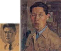 自画像 自画像素描 布面油彩 - 刘德文 - 中国油画及雕塑 - 2006年春季拍卖会 -收藏网