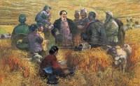 宝塔山下 布面 油画 - 安杰 - 中国油画专场 - 2007年秋季艺术品拍卖会 -收藏网