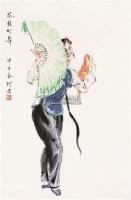 花彭灯舞 带框 纸本 - 4954 - 保真作品专题 - 2011春季书画拍卖会 -收藏网