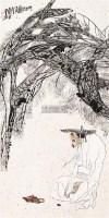 听松图 立轴 设色纸本 - 119214 - 关东名家书画专场(三) - 2011秋季艺术品拍卖会 -收藏网