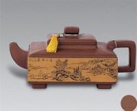 现代 紫砂溪山无尽图四方壶 -  - 中国书画紫砂茗壶 - 2006年秋季拍卖会 -收藏网