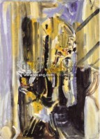NO.52京韵 油彩画布裱于纸板 - 153840 - 二十世纪中国艺术 - 2011年春季拍卖会 -收藏网