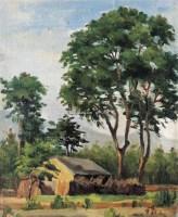 风景 布面 油画 - 116163 - 名家西画 当代艺术专场 - 2008年秋季艺术品拍卖会 -收藏网