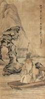山水人物 立轴 纸本 - 钱慧安 - 文物商店友情提供 - 庆二周年秋季拍卖会 -收藏网
