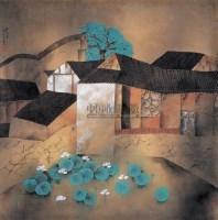 林容生 荷塘小屋 - 林容生 - 中国当代书画 - 2007年第1期嘉德四季拍卖会 -收藏网