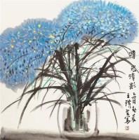 晴光清影 镜框 设色纸本 - 4428 - 中国书画专场 - 2011秋季艺术品拍卖会 -收藏网
