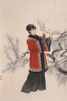 美女图 镜心 设色绢本 - 王美芳 - 中国书画 - 2006春季拍卖会 -收藏网