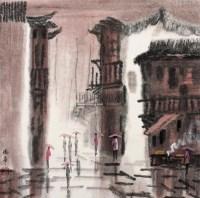 雨景 镜心 设色纸本 - 徐 希 - 中国当代书画 - 2008春季拍卖会 -收藏网