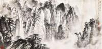 奇峰飞泉 镜心 设色纸本 - 20046 - 中国书画二 - 2011首届大型书画精品拍卖会 -收藏网