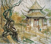 风景 布面 油画 - 141095 - 名家西画 当代艺术专场 - 2008年秋季艺术品拍卖会 -收藏网
