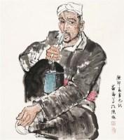 老人像 镜心 设色纸本 - 陈忠志 - 中国书画一 - 2011年春季艺术品拍卖会 -收藏网