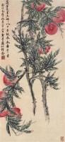 寿桃 立轴 设色纸本 - 胡絜青 - 中国近现代书画 - 2006秋季艺术品拍卖会 -收藏网