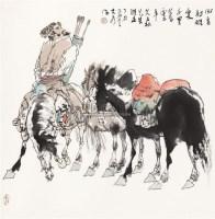 回看射雕处 立轴 设色纸本 - 114744 - 茶语轩书画专场 - 2011年春季中国书画拍卖会 -中国收藏网