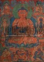 现代 织锦释迦牟尼唐卡 -  - 妙音天籁-佛教艺术品 - 2006年秋(十周年)拍卖会 -收藏网