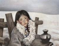 张奇开 1985年作 雪地期盼 布面 油画 - 155096 - 四川画派(油画) - 2006秋季拍卖会 -收藏网