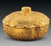 美式荷叶镀22K金盖碗 -  - 古董珍玩 - 2011春季艺术品拍卖会 -收藏网