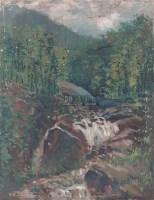 山涧 布面油画 - 苏天赐 - 华人西画 - 2005冬季艺术品拍卖会 -收藏网