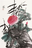 花卉 框 设色纸本 - 114993 - 中国书画(二) - 2011秋季艺术品拍卖会 -收藏网