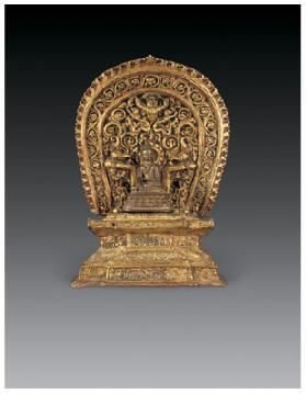 铜鎏金释迦牟尼佛像 -  - 佛像唐卡 - 2007春季艺术品拍卖会 -收藏网