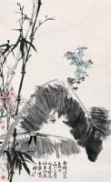 竹蕉图 立轴 设色纸本 - 于希宁 - 中国书画私人收藏专场 - 2009春季大型艺术品拍卖会 -收藏网