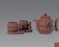 现代 紫砂刻孙子兵法茶具 (一套) -  - 中国书画紫砂茗壶 - 2006年秋季拍卖会 -中国收藏网