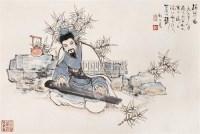 顾炳鑫 1986年作 抚琴图 立轴 设色纸本 - 139834 - 中国书画(二) - 2006秋季艺术品拍卖会 -收藏网