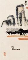 """山水 立轴 设色纸本 - 134237 - 文汇雅聚 - """"文汇雅聚""""——2011年春季艺术品拍卖会 -收藏网"""