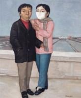 段建伟 2002年 桥上情侣 布面 油画 - 段建伟 - 中国油画及雕塑 - 2006秋季拍卖会 -收藏网