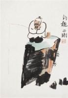 钓趣 镜心 设色纸本 - 119618 - 中国书画专场 - 2008第三季艺术品拍卖会 -收藏网