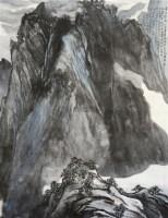 月映终南 画心 设色纸本 - 140166 - 中国书画(一) - 2011秋季拍卖会 -收藏网