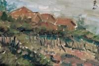 红屋 布面  油画 - 戴秉心 - 中国油画、雕塑 - 2006仲夏精品拍卖会 -收藏网
