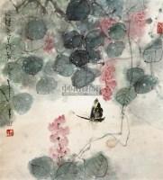 花蝶图 立轴 设色纸本 - 139490 - 中国书画(一) - 2011年夏季拍卖会 -收藏网