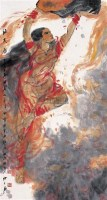 补天图 镜心 设色纸本 -  - 中国当代书画 - 2006冬季拍卖会 -收藏网