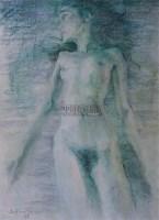 何多苓 无题NO.2 纸上色粉 - 何多苓 - 中国油画 - 2006秋季艺术品拍卖会 -收藏网
