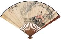 杨柳春风 成扇 设色纸本 - 吴伯年 - 中国书画(二) - 2006年秋季拍卖会 -收藏网